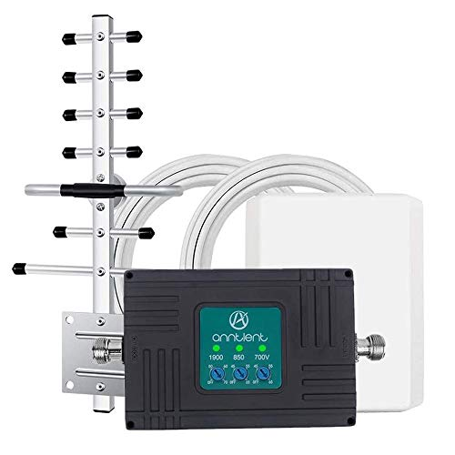Tri-Band Cell Phone Signal Booster for Home and Office - Boosts Verizon 3G 4G LTE Voice and Data - Band 2/5/13 Cell Phone Repeater with High Gain Panel/Yagi Antennas Cover Up to 4,500Sq Ft Area