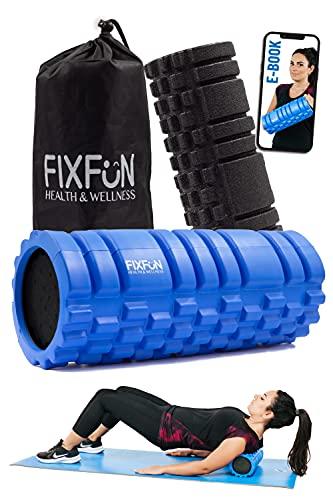 FIXFUN Foam Roller per Massaggio Muscolare - Doppio Rullo Massaggiante x Trigger Point, Borsa,...