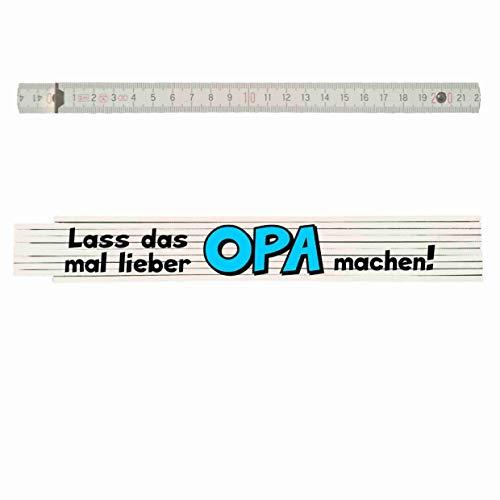 Zollstock mit Spruch: Lass das mal lieber OPA machen!