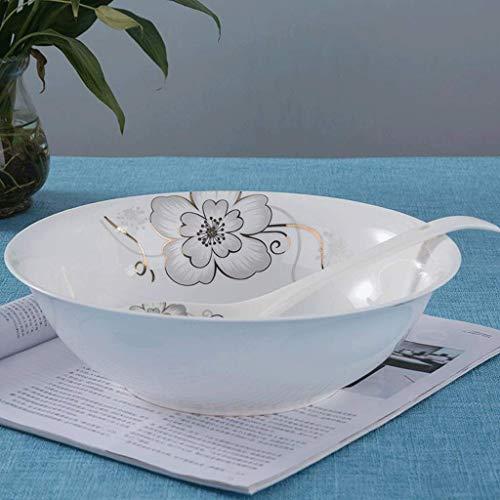 DJY-JY Cuenco de cerámica de 9 pulgadas de sopa tazón de fideos instantáneos Ensaladera Bowl Artículos para el hogar