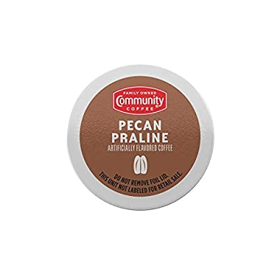 Community Coffee Pecan Praline Flavored 18 Count Coffee Pods, Medium Roast, Compatible with Keurig 2.0 K-Cup Brewers, Box of 18 Pods