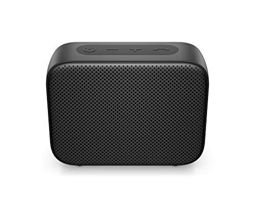 HP Bluetooth Lautsprecher 350 (USB-C Ladekabel, 3,5mm Klinke, Bluetooth, integriertes Mikrofon, Spritzwasserschutz) viereckig / schwarz