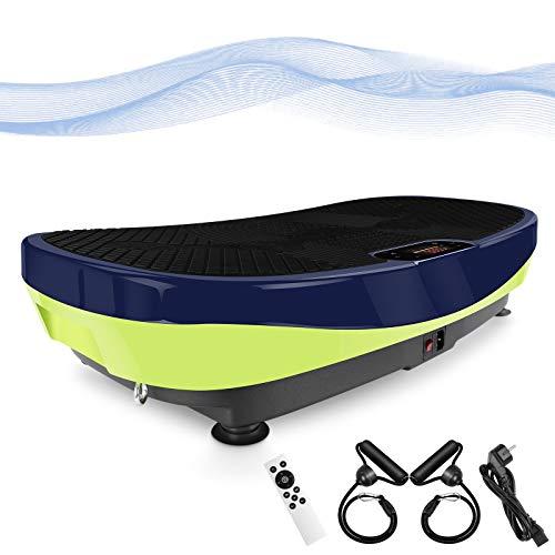 MVPower Vibrationsplatte 3D, Ultra groß rutschfest Curved Slim Design, Fettverbrennung | Muskel Bauen | Ganzkörpertraining zu Hause | super leiser Motor | Bluetooth Lautsprecher | Trainingsprogramme
