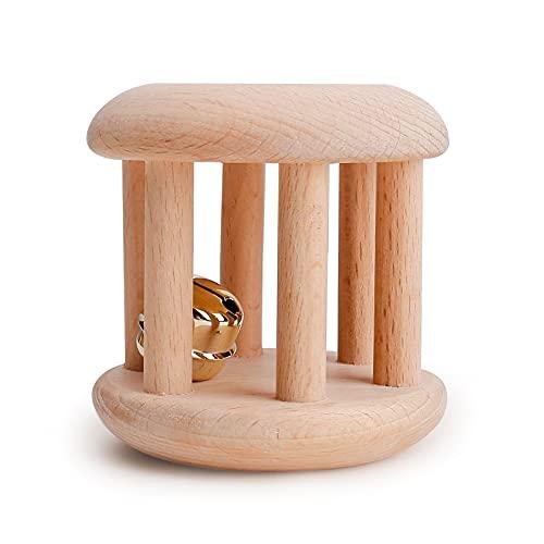 let's make Spielzeug Intellektuelle von Kindern Montessori Spielzeug Bio-Holz Glocken Rasseln Baby Spaß und Interessante Spielzeug Pflege Baby Dusche Geschenke
