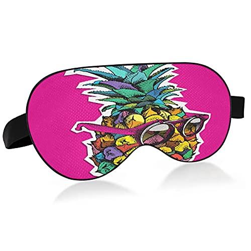 Máscara de dormir divertida con diseño de fruta de piña para dormir divertido gafas de sol de piña y fruta para dormir máscara de ojos para dormir