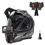 TELESIN - Cinghia anteriore per casco da moto, per GoPro Hero 9 Hero 8 Hero 7, Hero 6 Hero 5, nero DJI Osmo action e la maggior parte delle fotocamere sportive