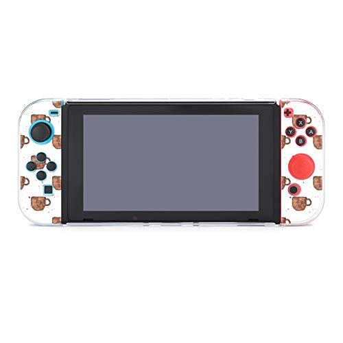 Hülle für Nintendo Switch Braun Kaffeetasse Fünfteiliges Set Schutzhülle Case Kompatibel mit Nintendo Switch Spielekonsole