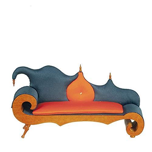 Melody Jane Dolls Houses Dollhouse Show Timber Setee JBM Miniature Walnut Sofa Living Room Furniture