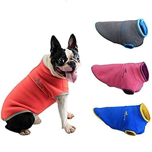 PETCARE Pet Dog Fleece Sweater Warm Winter Cold Weather Coat Chihuahua Dachshund Clothes with Zipper Puppy Vest Pullover Jacket for Small Medium Dogs Cats Girl Boy Yorkie French Bulldog Pug
