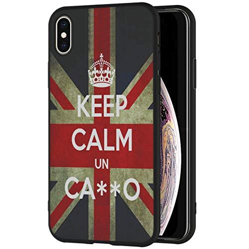 Mixroom - Cover Custodia in Silicone TPU Nero Opaco per Samsung Galaxy J5 2016 Fantasia Keep Calm Un Cazzo 270