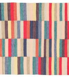 accordeco 24541–Teppich Frick 140x 200cm–100% Baumwolle–Mehrfarbig