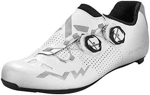 Northwave Scarpe Ciclismo Strada Uomo Extreme GT 2 Bianco/Argento Reflective - Numero 42