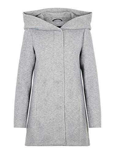 Vero Moda Vmverodona LS Jacket Noos Abrigo, Gris (Light Grey Melange Light Grey Melange), 40 (Talla del Fabricante: Medium) para Mujer