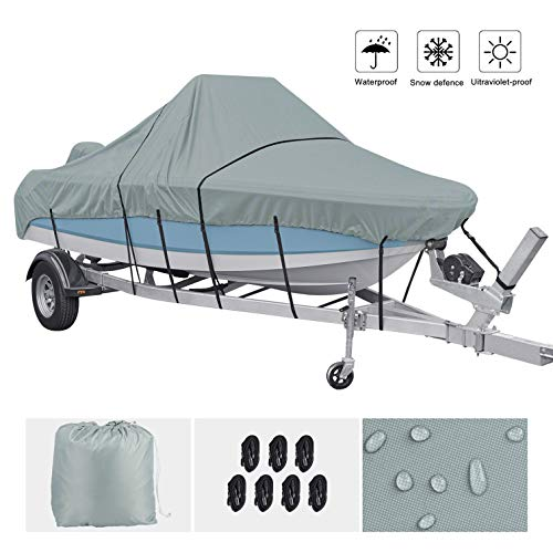 CHANGE MOORE Boat Cover Heavy Duty 420D Waterproof Trailerable Runabout Boat Cover Fit VHull TriHull Fishing Ski ProStyle Bass Boat 1719 FT 96 inch