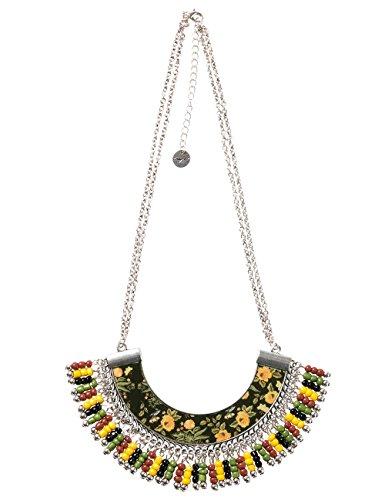 Desigual 17WAGOA72000U - Collar para mujer (47 cm, bañado en plata)