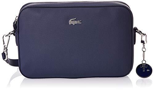Lacoste Daily Classic, Damen Umhängetasche, Blau (Peacoat), 5x16.5x25.5 cm (W x H L)