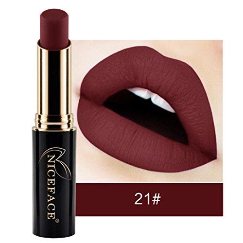 NICEFACE 24 nuances New LIP lingerie Matte rouge à lèvres liquide maquillage brillant à lèvres (21#)