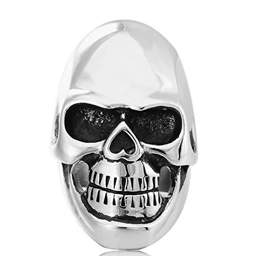 JIANLISP Los Hombres de Acero Inoxidable Anillos de Banda de época gótica Devil Cabeza del cráneo de los Anillos del Motorista