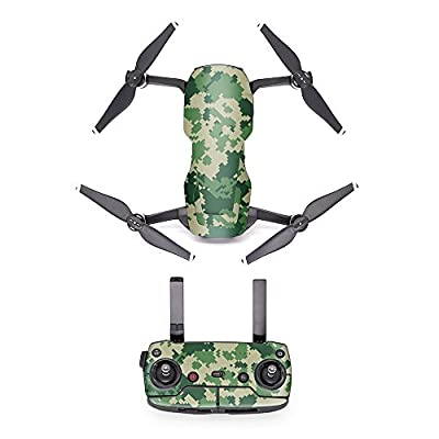 MoreToys Waterproof Battery Decal Remote Controller Skin Wrap Decorative Sticker Decal Skin Full Set Drone Body Sticker for DJI Mavic Air Quadcopter Drone
