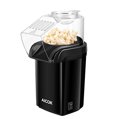 Great Deal! Aicok Hot Air Popcorn Popper, 1200W Fast Popcorn Maker with Measuring Cup, Oil-Free & Lo...