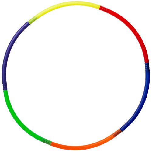 Segmented Exercise Hoop  Colorful 29quot Indoor / Outdoor Fitness Sports and Fitness Training Activity Accessory for School Gym Class Field Day Children#039s Recess Games Adults and Kids