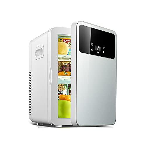 Kanpans Refrigerador moderno para automóvil, refrigerador y calentador portátil, pantalla digital y control de temperatura, refrigerador compacto, adecuado para dormitorio, oficina, cuidado de la piel