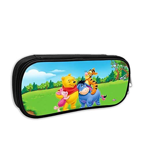 Estuche para lápices de dibujos animados de Winnie The Pooh, de gran capacidad, para estudiantes de papelería, organizador de escritorio, lápices portátil, para la escuela o la oficina.