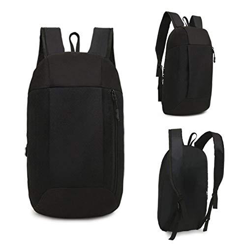 REBKW Mochila deportiva unisex para senderismo, mochila de viaje, para hombres y mujeres, mochila de colegio, mochila de ocio al aire libre, gran capacidad (negro, Estados Unidos)