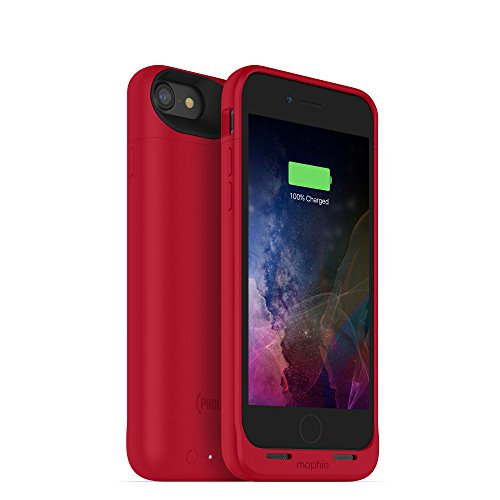 mophie 3783_JPA-IP7-PRD Juice Pack Wireless - Charge Force Wireless Power - Wireless Charging Protective Battery Pack Case for Apple iPhone 8 and iPhone 7 - (Product) Red