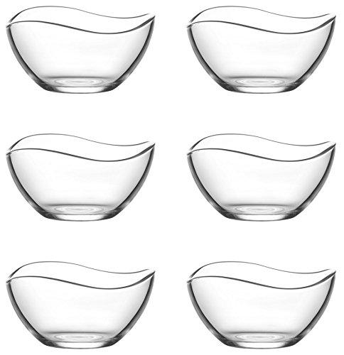 Lav 6tlg Glasschalen 215 ml Vira Schalen Glasschale Dessertschale Vorspeise Glas Gläser
