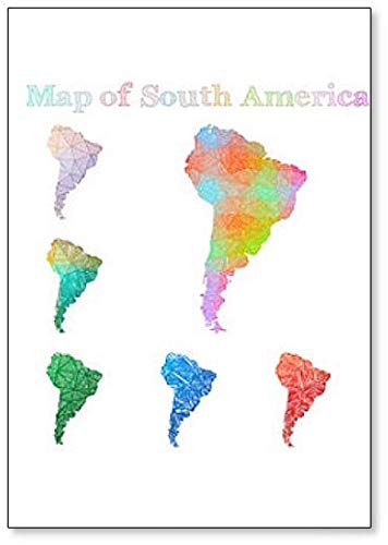 Sketchy South America Maps Collection Illustratie Koelkast Magneet