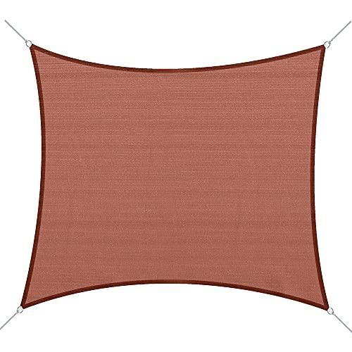 Toldo Vela 3x4m Cuadrado Rojo Polietileno HDPE 185 g/m²
