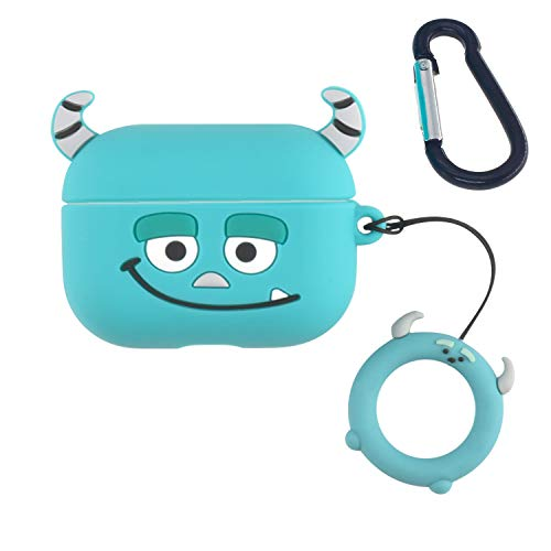 Monster AirPods Pro Case, ifctn Shockproof Protective 3D Silicone Cartoon Cute Airpods Case Cover Compatible with Apple Airpods Pro Charging Case (Sullivan Pro)