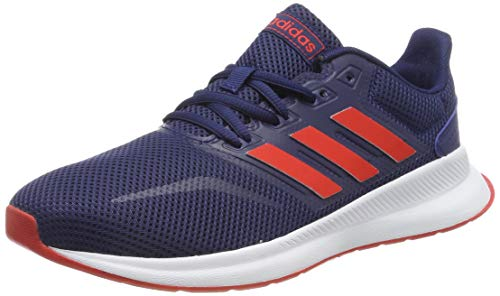 adidas Unisex-Kinder Runfalcon K Traillaufschuhe, Mehrfarbig (Azuosc/Rojact/Negbás 000), 33 EU