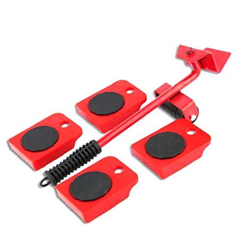 KHHGTYFYTFTY Schwere Möbel Shifter Lifter Räder bewegen Kit Slider Mover Easy Move Entfernen Red