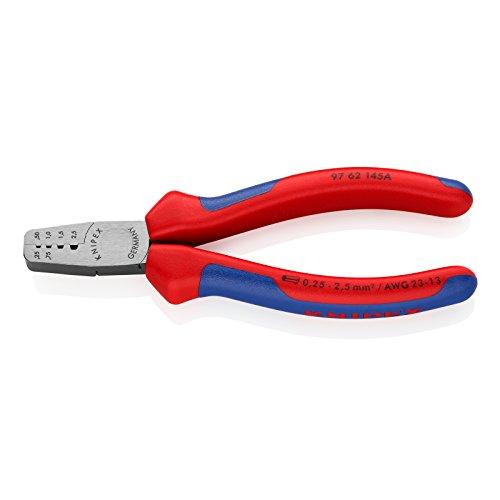 KNIPEX 97 62 145 A Crimpzange für Aderendhülsen mit Mehrkomponenten-Hüllen 145 mm