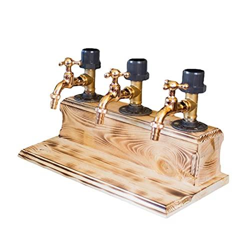 YiShuHua Donante de Bebidas de Madera, donantes de Bebidas con Forma de Grifo, para espíritus, Alcohol, Whisky, Madera, Donante para Fiesta, Cena, Bares y Estaciones de Bebidas (Color : C)