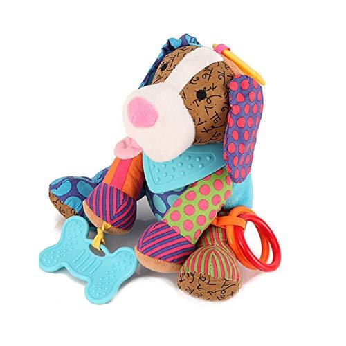 mxdmai Perro del traqueteo del bebé de juguete de felpa