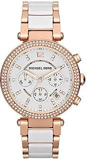 ساعة مايكل كورس MK5774 باركر وردي بلونين جليتز للنساء