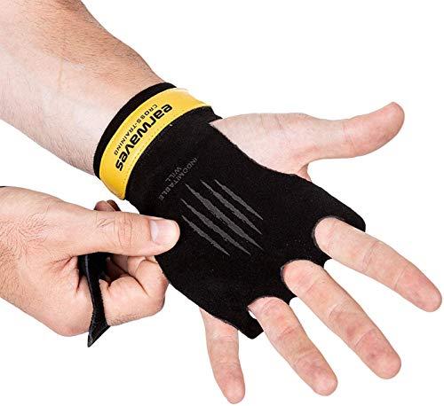 Earwaves ® Slim Grips - Calleras básicas de iniciación Ultra Finas de Cuero. Calistenia, Gymnastics, Pull ups, Muscle ups, T2B, CTB, Dominadas, Barra y Anillas.