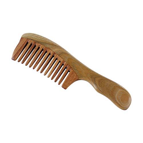 MKOIJN 1 Stks Handgemaakte Houten Sandelhout Brede Tand Houten Kam Natuurlijke Hoofd Kammen Haarverzorging Geen Statische Gezonde Kam
