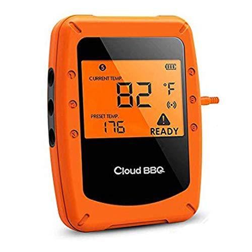 Termometro Cucina con 6 Sonde,Termometro BBQ Wireless Termometri Digitali Intelligente Bluetooth Controllo Timer Chiara Lettura Schermo LCD per Alimenti Liquidi,Supporto iOS,Android