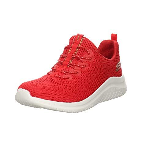 Skechers - Zapatillas deportivas para mujer Ultra Flex 2.0 Lite-Groove, color Rojo, talla 36 EU
