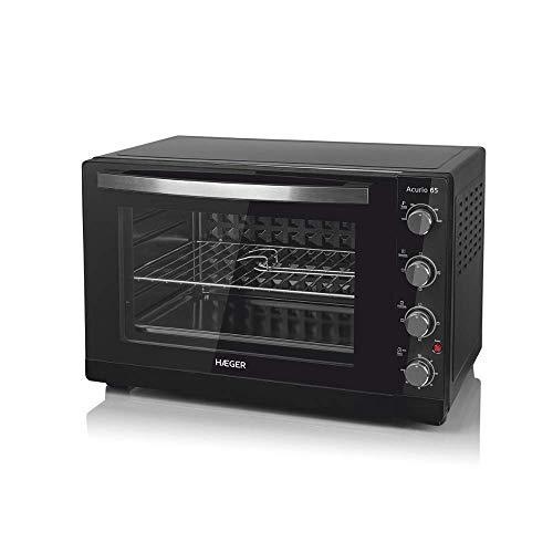 HAEGER ACURIO Elektrischer Ofen mit 2200 W Leistung, 65 l Fassungsvermögen, Tür mit doppeltem Glas, Timer mit 60...