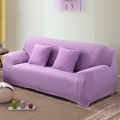 YANJHJY Juego de Fundas de sofá elástico Blanco Fundas de sofá elásticas de algodón, para Sala de Estar Mascotas Esquina Sofá Protector de Cubierta de sofá, Color 17,2, Asiento 145,185cm