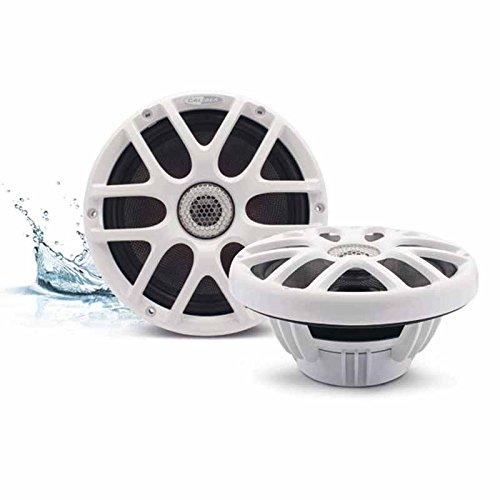 2-Wege Koaxial Marine Lautsprecher weiß 20cm 200mm / 160Watt max / 80Watt RMS wasserfest RGB LED-Beleuchtung Boot / Sauna / Pool / Yacht / Outdoor Speaker