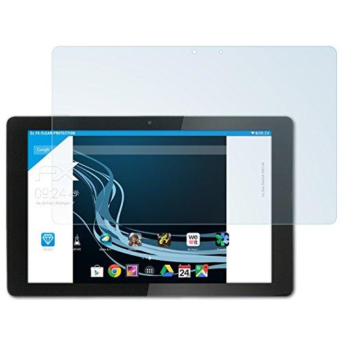 atFolix Schutzfolie kompatibel mit Xoro TelePad 10A3 4G Folie, ultraklare FX Bildschirmschutzfolie (2X)