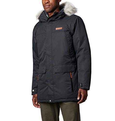 Columbia Men's South Canyon Long Down Parka, Black, 6X Big