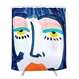 Qualité Haut de Gamme Cabine de Douche Rideau ou avec Doublure Fille Avatar, Salle de Bains Illustration Curtain Utilisation for...
