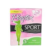 Playtex スポーツ無香料スーパー吸収性タンポン18 EA(3パック)
